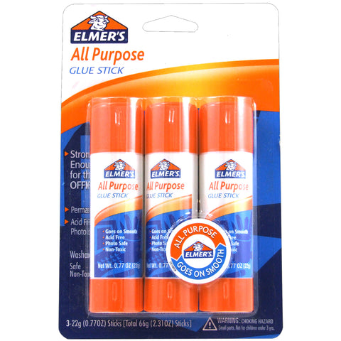 Elmer's All-Purpose Glue Sticks 3/Pkg