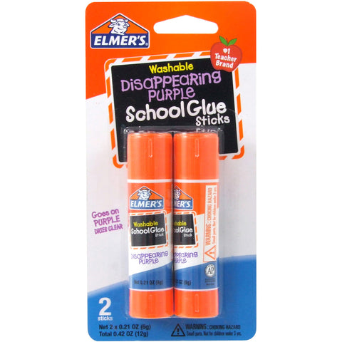 Elmer's Washable School Glue Sticks - Purple 2/Pkg