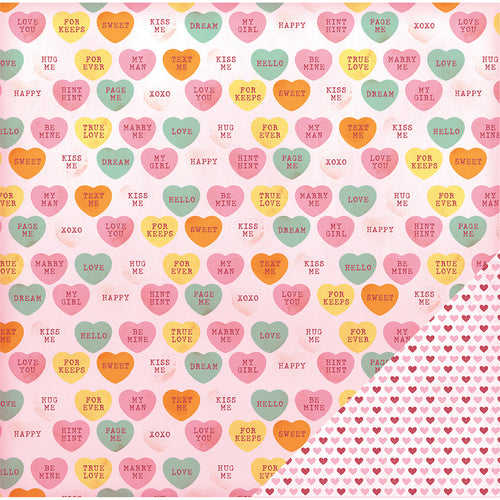 "American Crafts Valentine Double-Sided Cardstock 12""X12"""