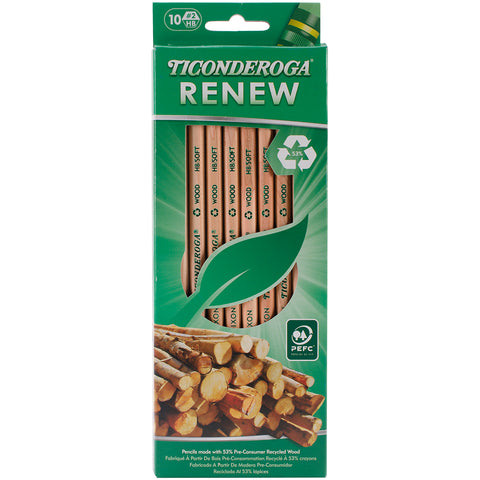 Ticonderoga Renew Recycled #2 Pencils 10/Pkg