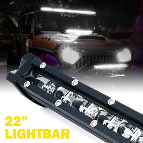 "Xprite 22"" 100W Ultra Thin Astro Series Flood Beam CREE LED Light Bar"