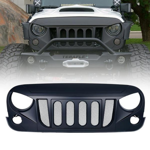 Xprite Transformer Grille with Built-In Mesh for Jeep Wrangler 2007-2018