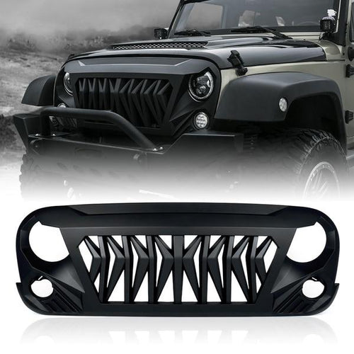 Xprite Beast Grille with Removeable Steel Mesh for Jeep Wrangler 2007-2018 JK