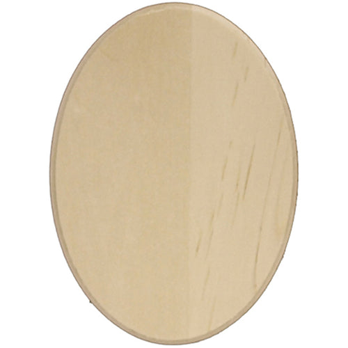 Basswood Oval Thin Plaque