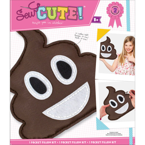 Emoji Pile Of Poo Pillow Sew Cute! Felt Kit