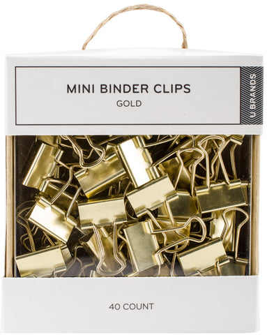 Mini Gold Binder Clips
