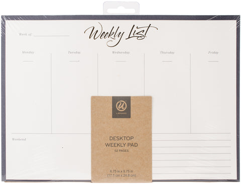 Weekly Note Pad Gold Foil