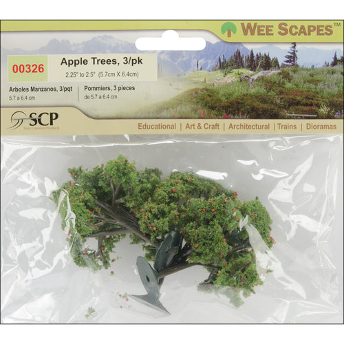 "Apple Trees 2.25"" To 2.5"" 3/Pkg"