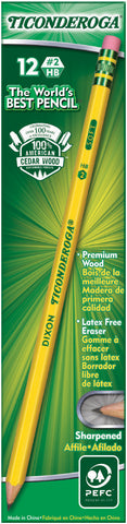 Ticonderoga Presharpened #2 Pencils 12/Pkg