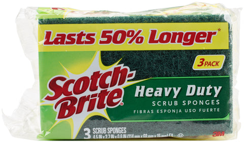 Scotch-Brite Heavy Duty Scrub Sponges 3/Pkg