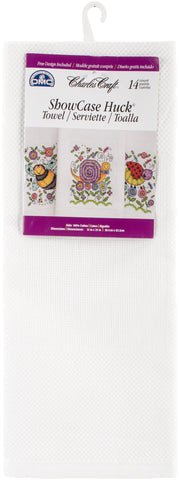 "Charles Craft Showcase Huck Towel 14 Count 15""X25"""