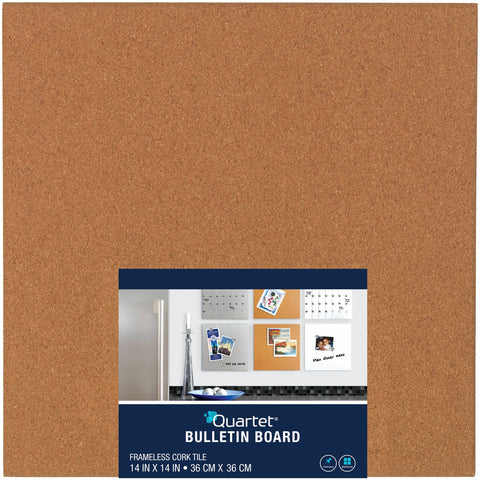 "Quartet Cork Bulletin Board Tile 14""X14"""