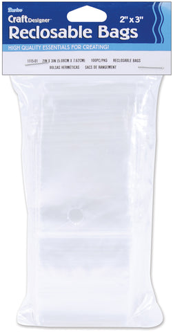 Darice Reclosable Bags 100/Pkg