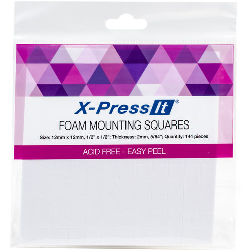"X-Press It Foam Mounting Squares .5""X.5"" 144/Pkg"