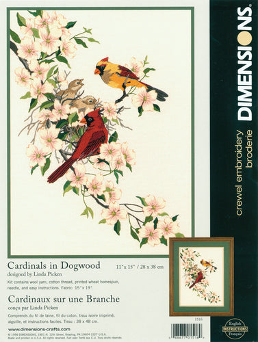 "Dimensions Crewel Kit 11""X15"""