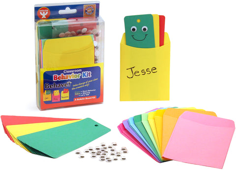 Behavior Bulletin Board Kit 25/Pkg W/Pockets & Wiggle Eyes