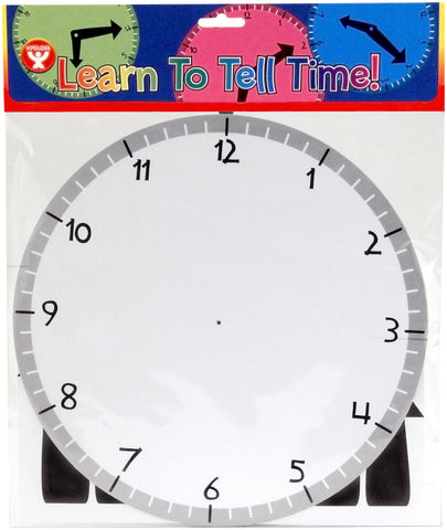 Learn-To-Tell-Time Clock Kit 24/Pkg