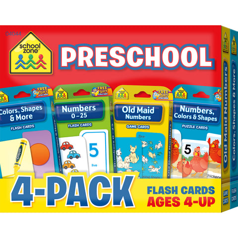 Flash Cards 4-Pack