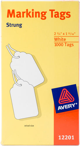 "Avery White Marking Tags 2.75""X1.6875"" 1000/Pkg"
