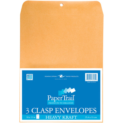 "Heavy Clasp Envelopes 10""X13"" 3/Pkg"
