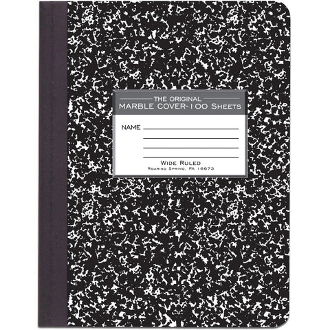 "Marble Composition Notebook 9.75""X7.5"" 100 Sheets"