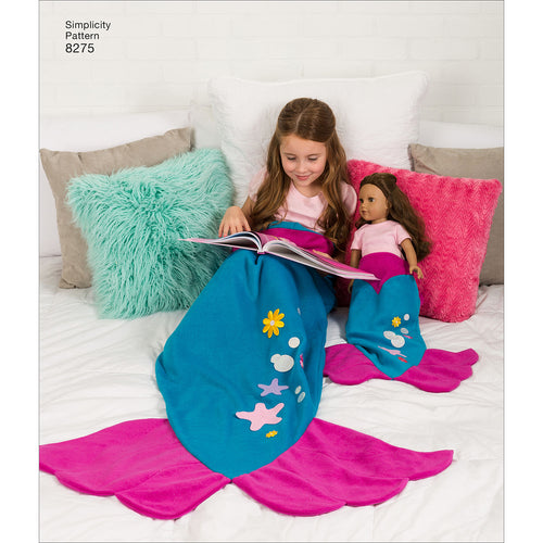 "Simplicity Craft Novelty Blankets For Child Adult 18"" Doll"