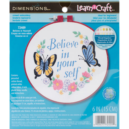 "Dimensions/Learn-A-Craft Crewel Embroidery Kit 6"" Round"