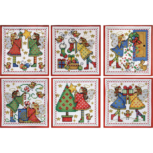 "Design Works Counted Cross Stitch Ornament Kit 4""X4"""