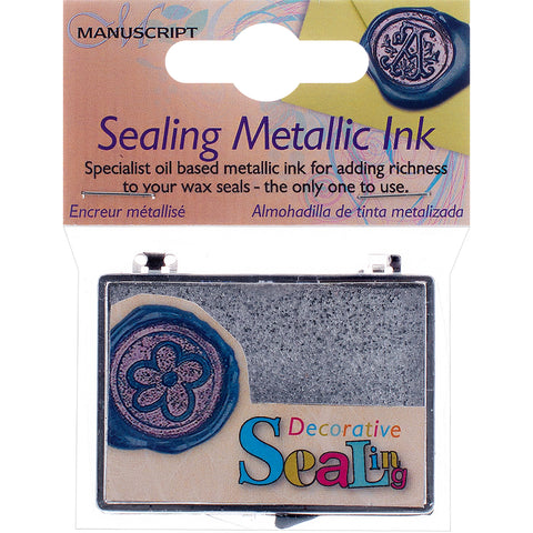 Manuscript Decorative Sealing Metallic Ink Pad