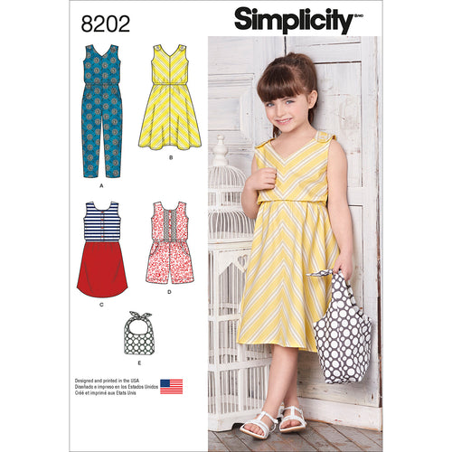 Simplicity Girls Jumpsuit Dresses & Bag