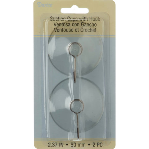 Suction Cup Hooks 60mm 2/Pkg