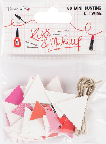 Dovecraft Kiss & Make Up Mini Bunting