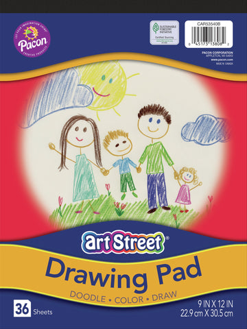 "U-Create Drawing Paper Pad 9""X12"" 36/Pkg"