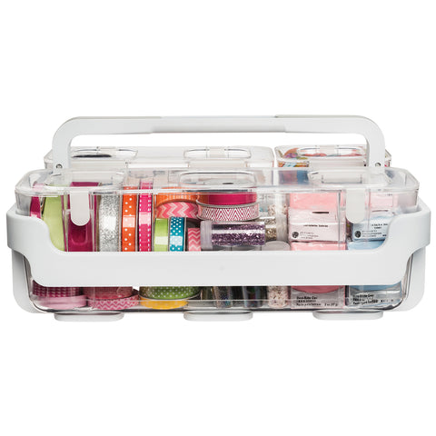 Deflecto Caddy Organizer W/Sml, Med & Lrg Compartments