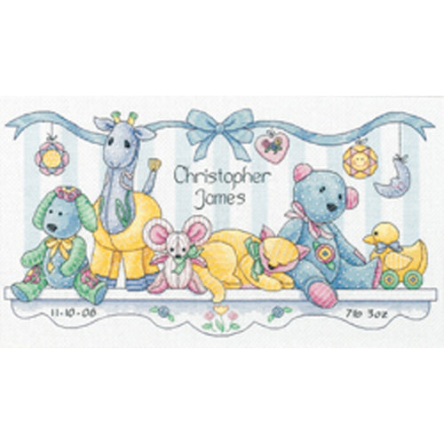 "Dimensions/Baby Hugs Counted Cross Stitch Kit 14""X8"""