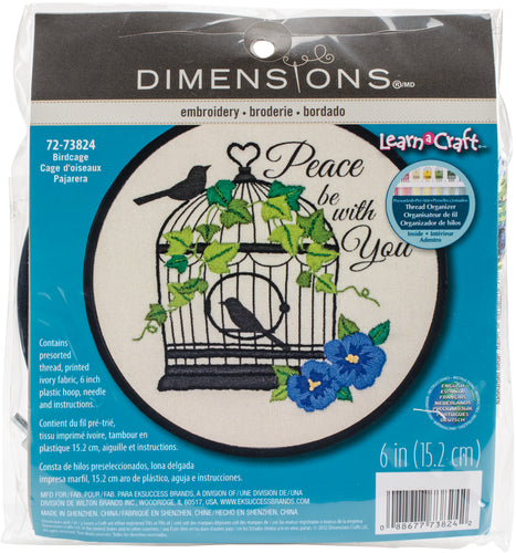 "Dimensions/Learn-A-Craft Embroidery Kit 6"" Round"