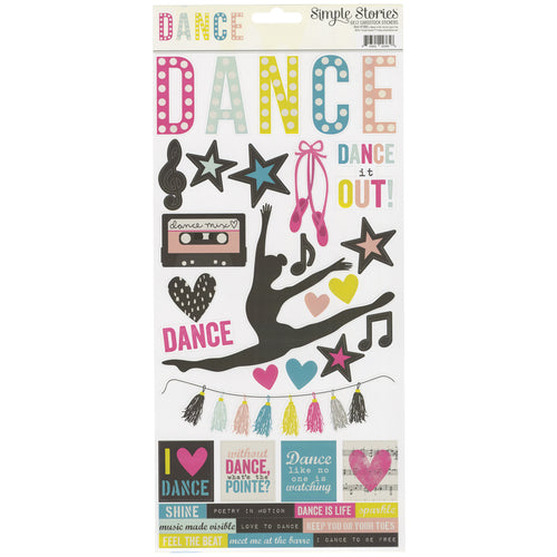 "Simple Sets Dance Cardstock Stickers 6""X12"""