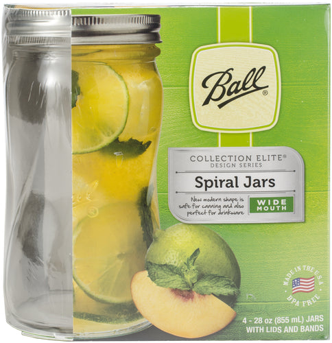 Ball(R) Wide Mouth Spiral Canning Jars 4/Pkg