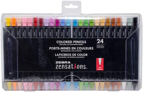 Zebra Zensations Colored Pencils 24/Pkg