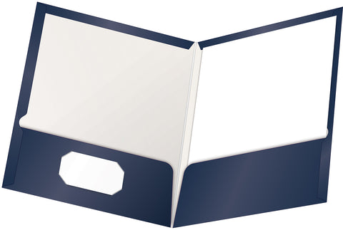 Oxford Showfolio Laminated Twin Pocket Folders 25/Pkg