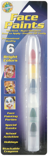Face Paint Stackable Crayons 6/Pkg