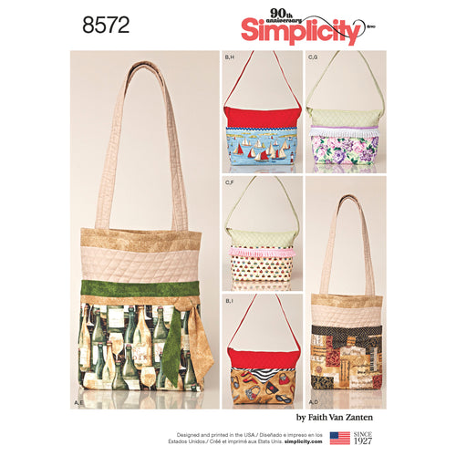 Simplicity Bags In Two Sizes With Changeable Covers