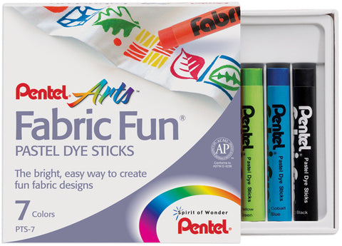 Fabric Fun Pastel Dye Sticks 7/Pkg