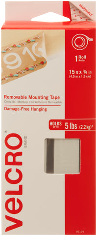 Velcro(R) Brand Removable Mounting Tape Roll 15'X.75""