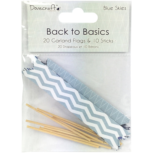 Dovecraft Back To Basics Blue Skies Garland Flags