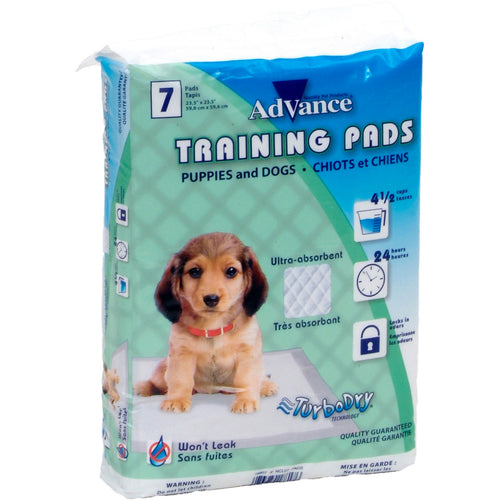 Advance Dog Training Pads With Turbo Dry Technology 7/Pkg