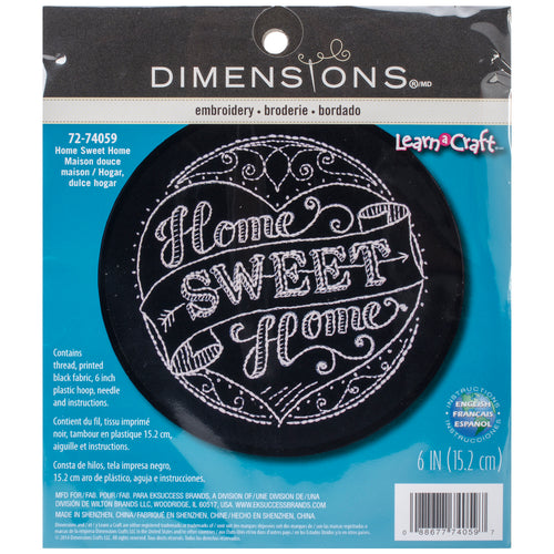 "Dimensions/Learn-A-Craft Stamped Embroidery Kit 6"" Round"