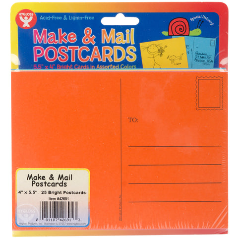 "Mighty Bright Make & Mail Postcards 4""X5.5"" 25/Pkg"