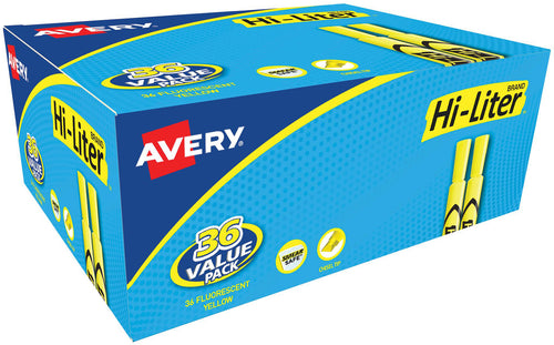 Avery Hi-Liter Desk-Style Highlighters 36/Pkg