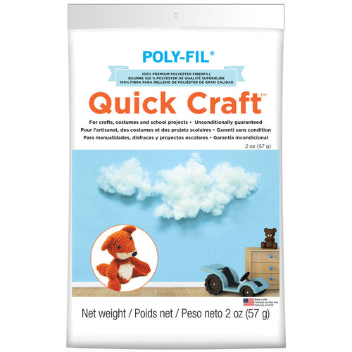 Fairfield Poly-Fil Quick Craft Premium Polyester Fiberfill